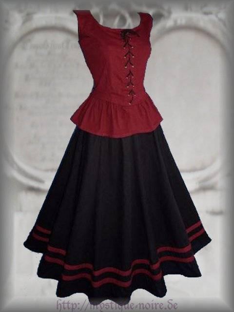 Details zu mittelalter kleid modesty mieder rock gothic barock schwarz