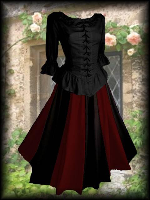 mittelalter kleid bernhardis mieder rock gothic barock. Black Bedroom Furniture Sets. Home Design Ideas