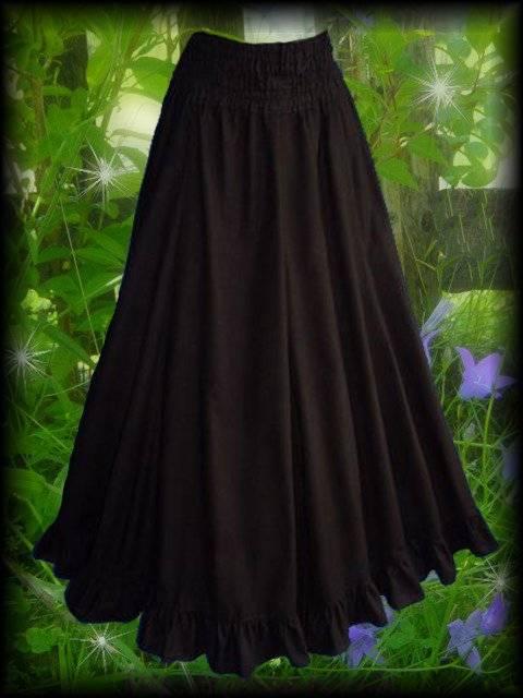 buy online 9d4ce 80396 Mittelalter Rüschen Rock Brichevé superweit lang schwarz Gothic Larp 36 - 46