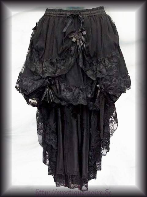 victorian steampunk bustle skirt lace roses bow goth burlesque. Black Bedroom Furniture Sets. Home Design Ideas