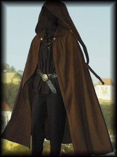 Medieval Cloak Long Pointed Hood Rennaisance Sca Larp
