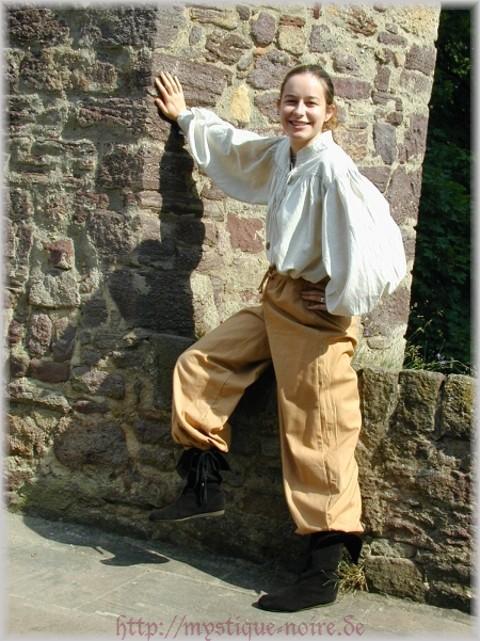 Gothic Wikinger Mittelalter Renaissance Hose geschnürter Bund Ritter Bauer Larp